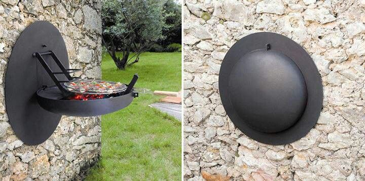Space Saving Backyard Cookers The Wall Mounted Bbq Grill Outdoor Home Decor