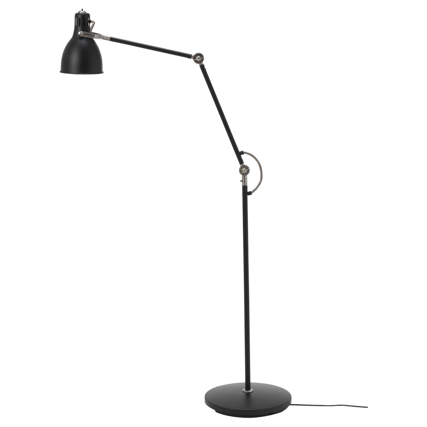 Arod Floor Reading Lamp With Led Bulb Dark Gray Anthracite Golvlampa Lampor Ikea