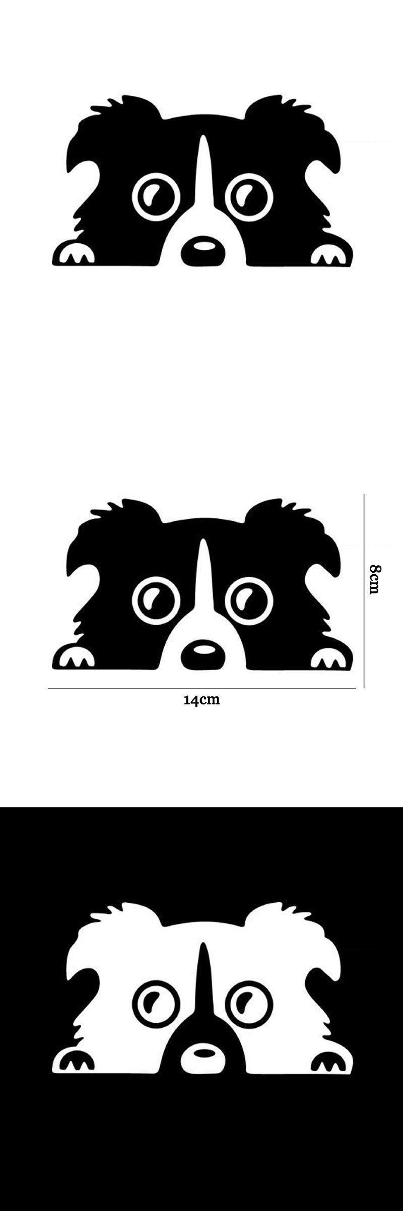 14 8cm Border Collie Dog Personality Reflective Glass Rear Pet Car Sticker Black Silver Ct 505 Dogtattoobordercollie Dog Tattoos Dog Personality Border Collie [ 2400 x 800 Pixel ]