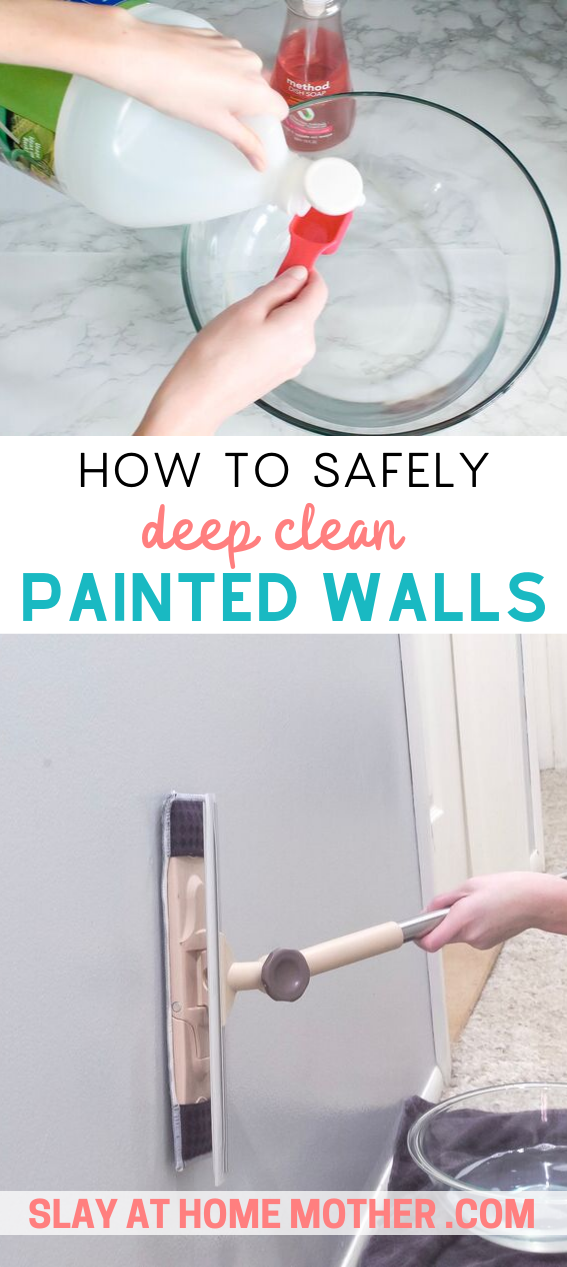 How To Clean Walls Without Removing Or Discoloring Paint Cleaning Walls Cleaning Baseboards Diy Cleaning Solution