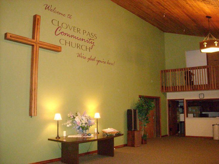 wall decor - for small area? | Church | Pinterest | church decor ...