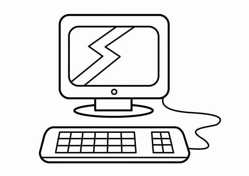 Computer Coloring Pages Coloring Rocks Computer Sketch Easy