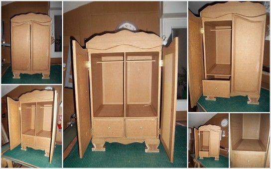 Armoire Baroque En Carton Muebles De Carton Muebles En Miniatura Reutilizar Muebles