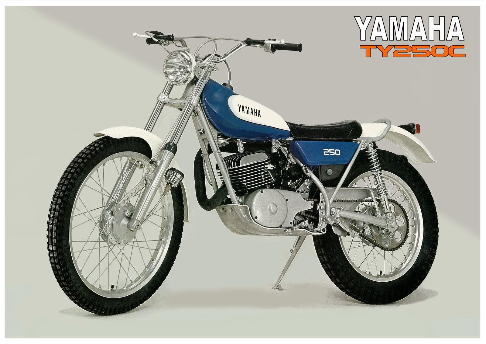 Yamaha Poster TY250 TY250C 1976 Classic Twinshock Trials