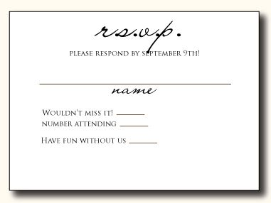 RSVP Card Wording | Response cards, Examples and Wedding
