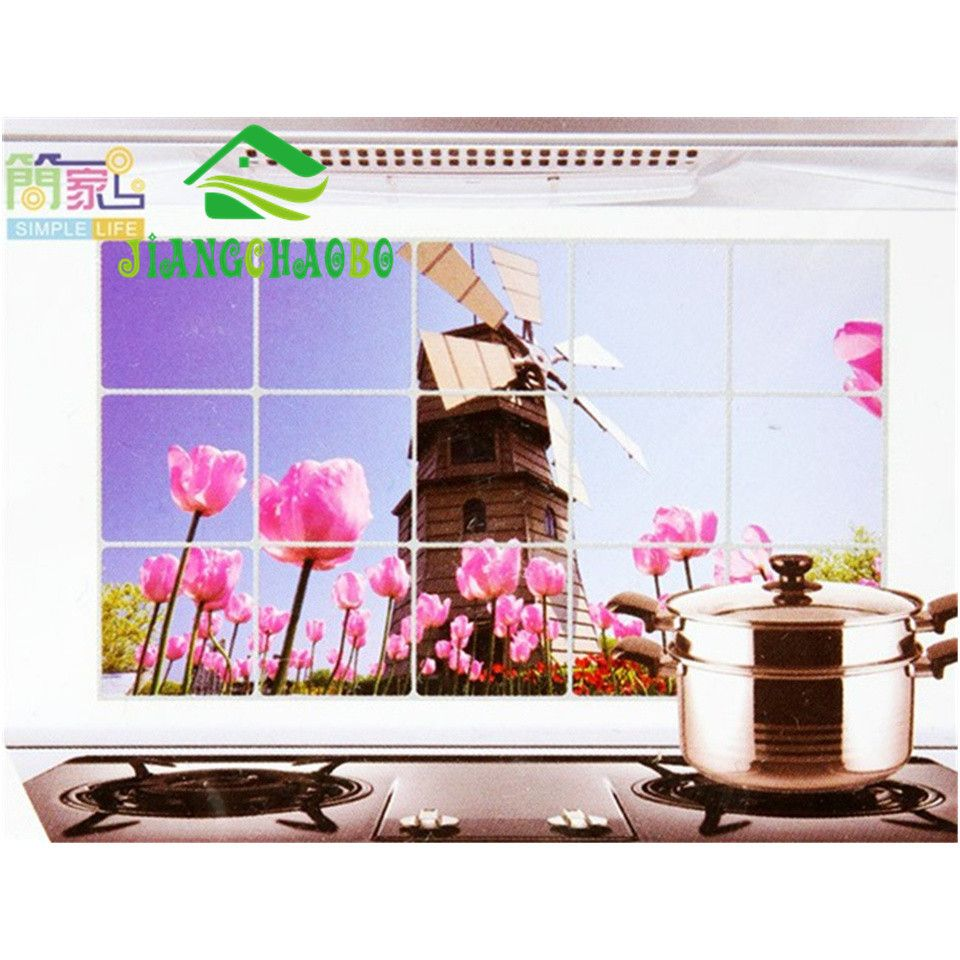 Decals Oil-proof Aluminum Foil Stickers Keep Clean Kitchen Wall ...