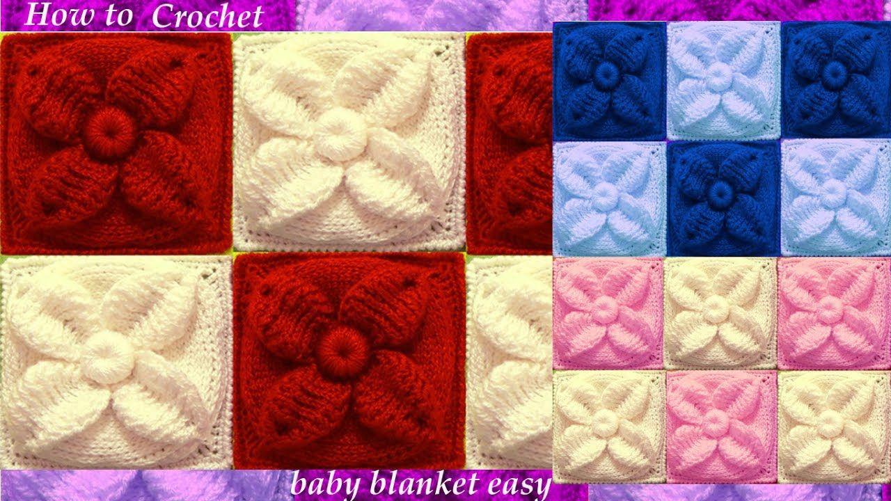 Como tejer con Ganchillo Crochet punto de hojas acolchadas en doble ...
