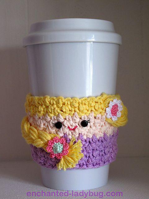 Free Crochet Pattern: Rapunzel Coffee Cup Cozy | Crochet - Pattern ...