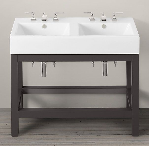 Hutton Double Console Sink Www.restorationhardware.com