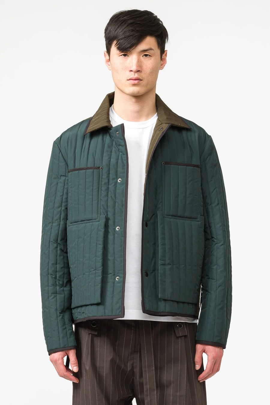 Quilted Worker Jacket In Green 2020