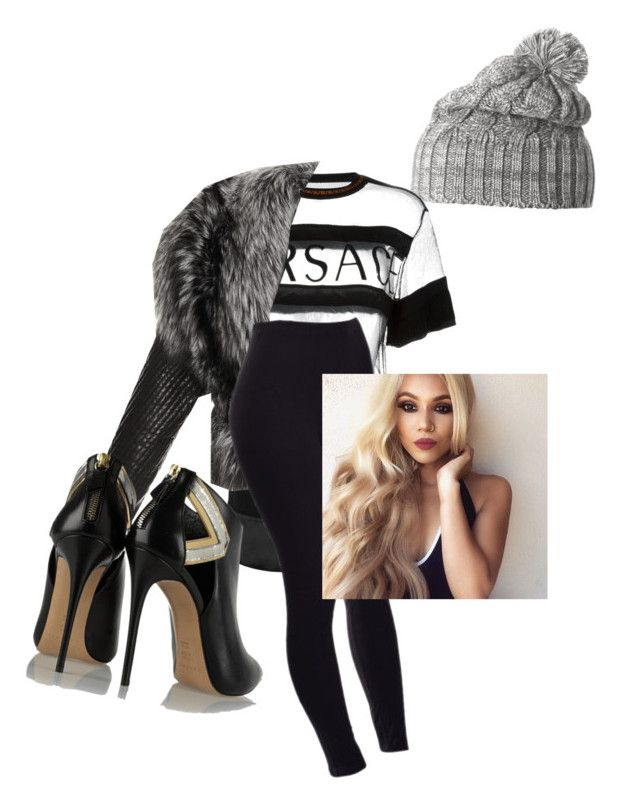 """""""Untitled #16"""" by autumnwiley16 on Polyvore featuring Helly Hansen, Versace, J. Mendel and Casadei"""