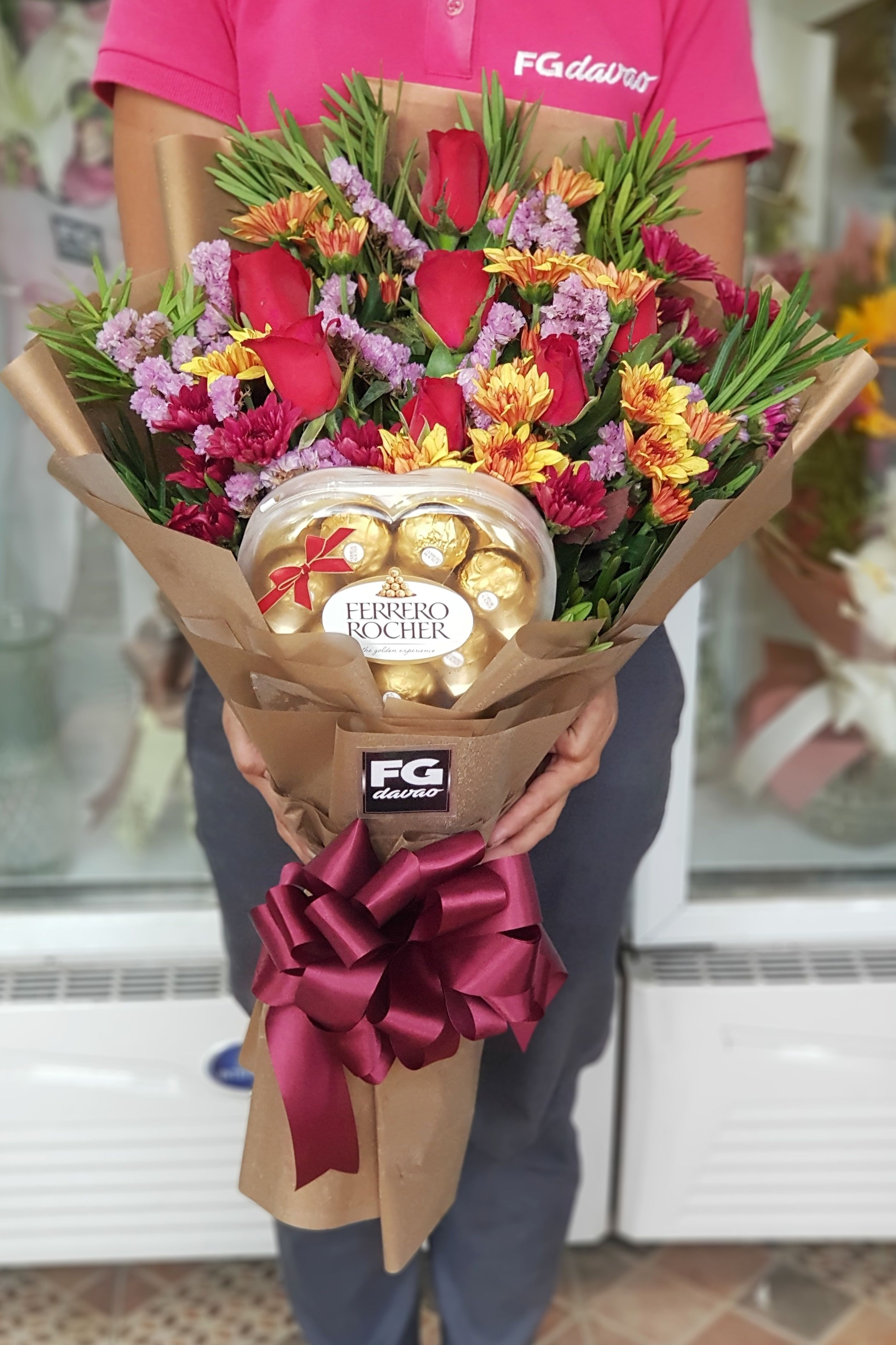 Bouquet Of Roses And Chocolates Www Fgdavao Com Send Flowers