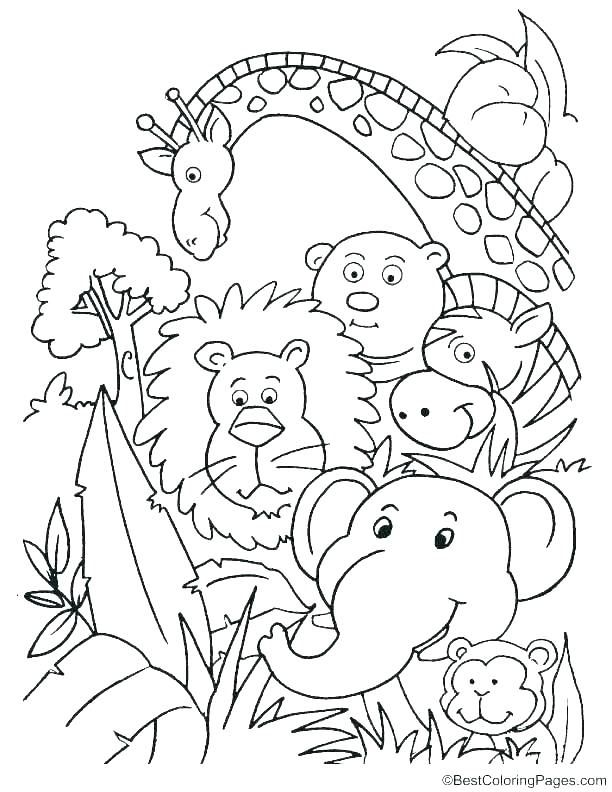Fresh Coloring Pages Jungle Animals For You Coloring Pages For Free Jungle Coloring Pages Animal Coloring Pages Unicorn Coloring Pages