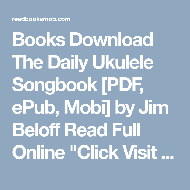 books download the daily ukulele songbook pdf epub mobi by jim
