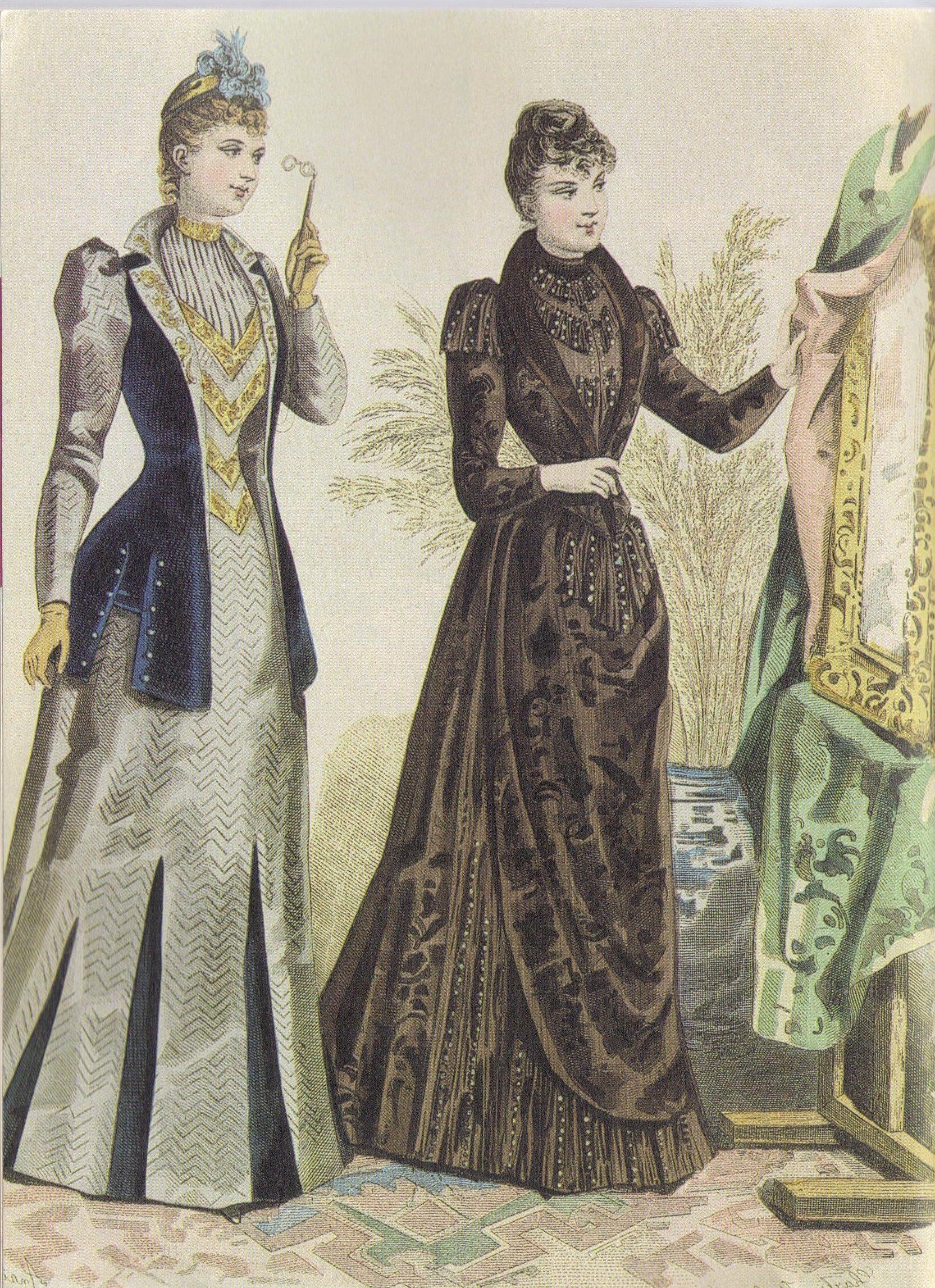 1891 - dresses by Mme Gradoz in la Mode Illustrée   1890s fashion ...