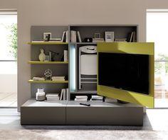 Ozzio tv wand smartliving wohnzimmer pinterest tv for Farbvarianten wohnzimmer