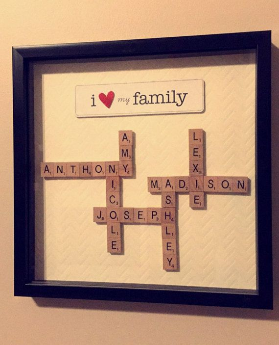 Scrabble frame art my etsy shop manualidades regalos - Scrabble decoracion ...