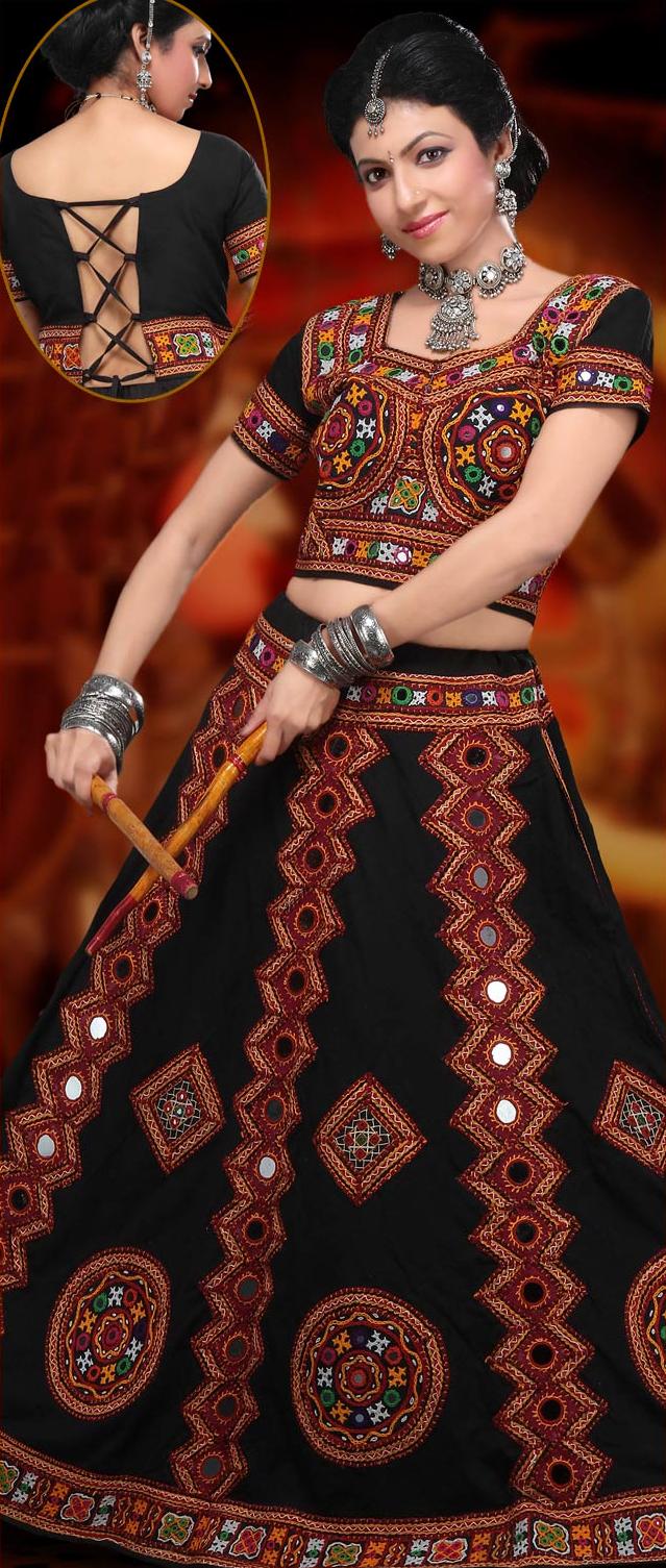 5ad38072f8 Black #Cotton #Chaniya Choli | Navratri Collection | Garba chaniya ...