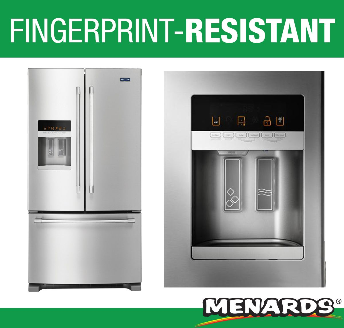 This Maytag French Door Refrigerator Is Easy To Clean Fingerprint Resistant And Offers Plenty Of Space F French Door Refrigerator Best Appliances Refrigerator