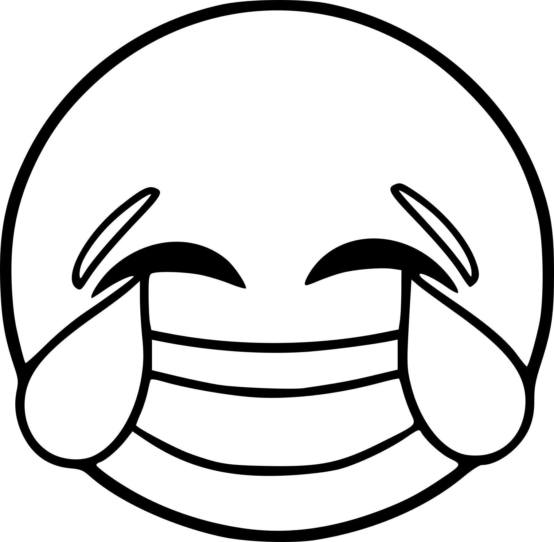 Coloriage Emoji Rire Coloriagelicorne In 2020 Emoji Coloring