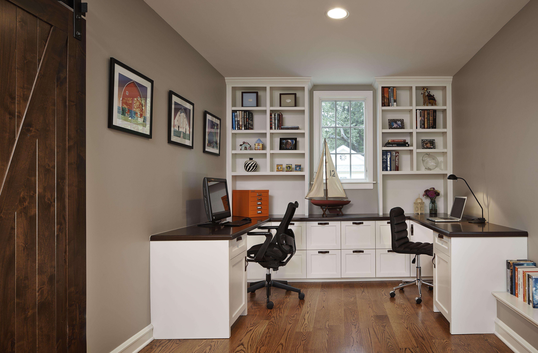 traditional custom home office. Family Study - Traditional Home Office Chicago Roberts Construction Custom