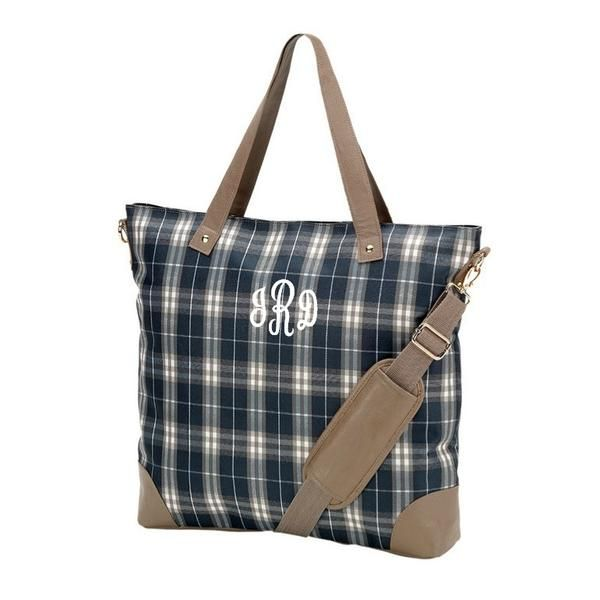 Personalized Embroidered Initials Duffel Bag - 3 Colors to Choose From!