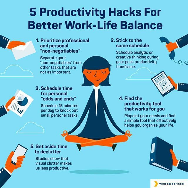 Life Hacks How To Declutter For A Better Life: Productivity Hacks For A Better Work/life Balance