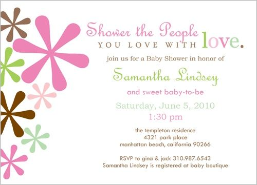 Idea for birthday card shower for Joes Mom Pastel Jacks 5x7 – Gift Card Invitation Wording