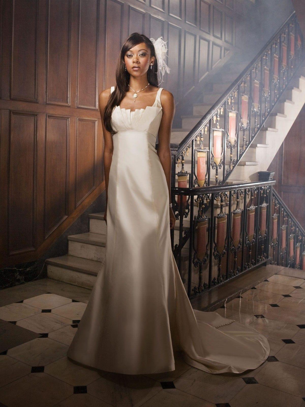 Unique style wedding dresses  Shantung Square Neckline Origami Pleated Bodice Aline Wedding Dress