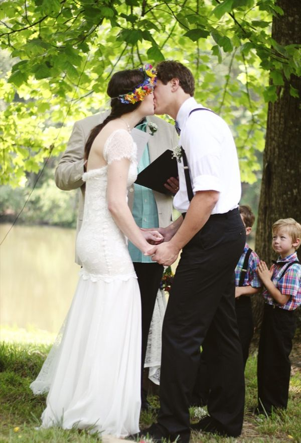 Wedding Southern First Kiss