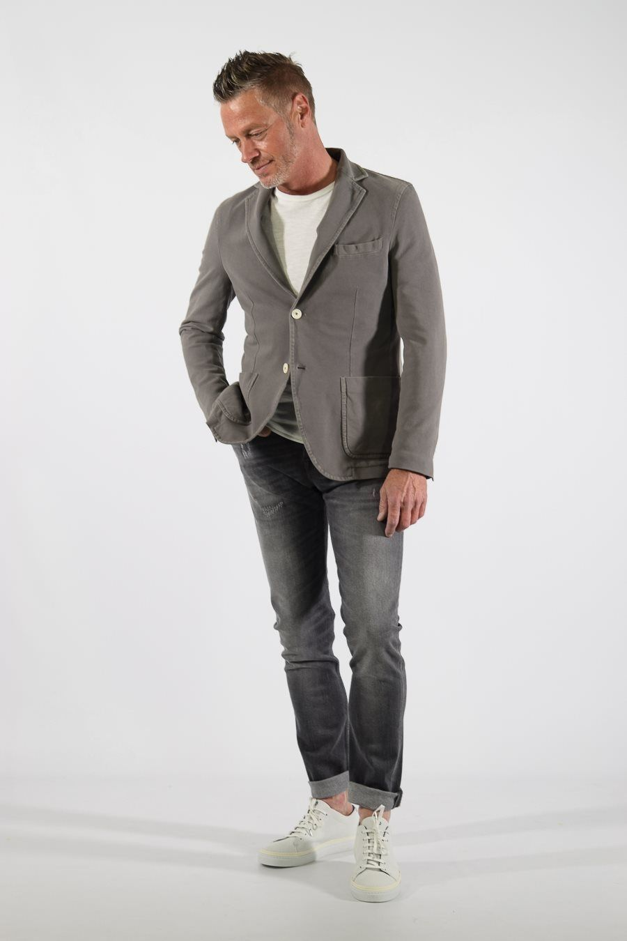 - 92% cotton 8% elasthan - tricot blazer - casual chique