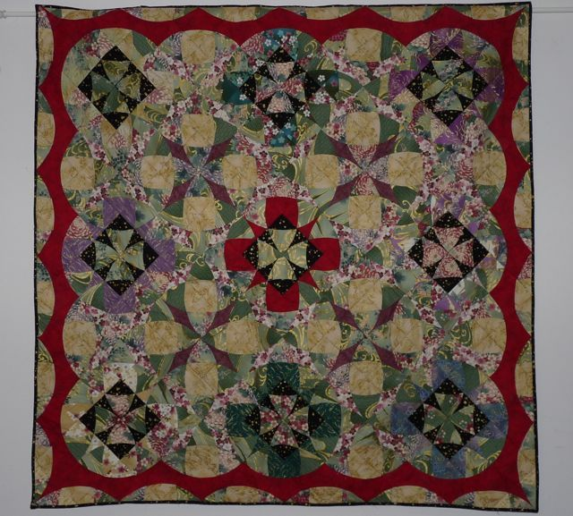 Japanese Garden quilt; pattern from 'The Caffinated Quilter'. The ... : definition of a quilt - Adamdwight.com