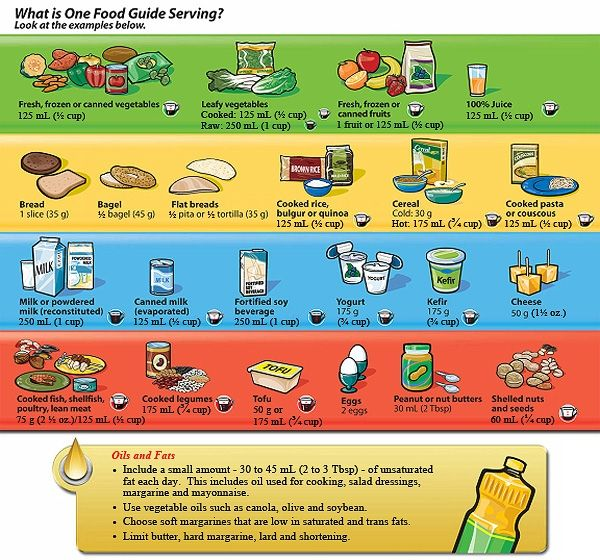 What Is One Food Guide Serving By Health Canada Click Image To