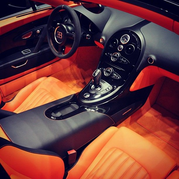 All things bright and beautiful inside the Veyron! #interior ...