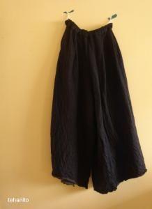 wool knit wide pants