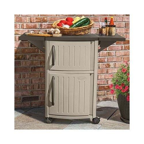 Outdoor Storage Cabinet Patio Serving Station Party Pool Bar Grill Barbeque