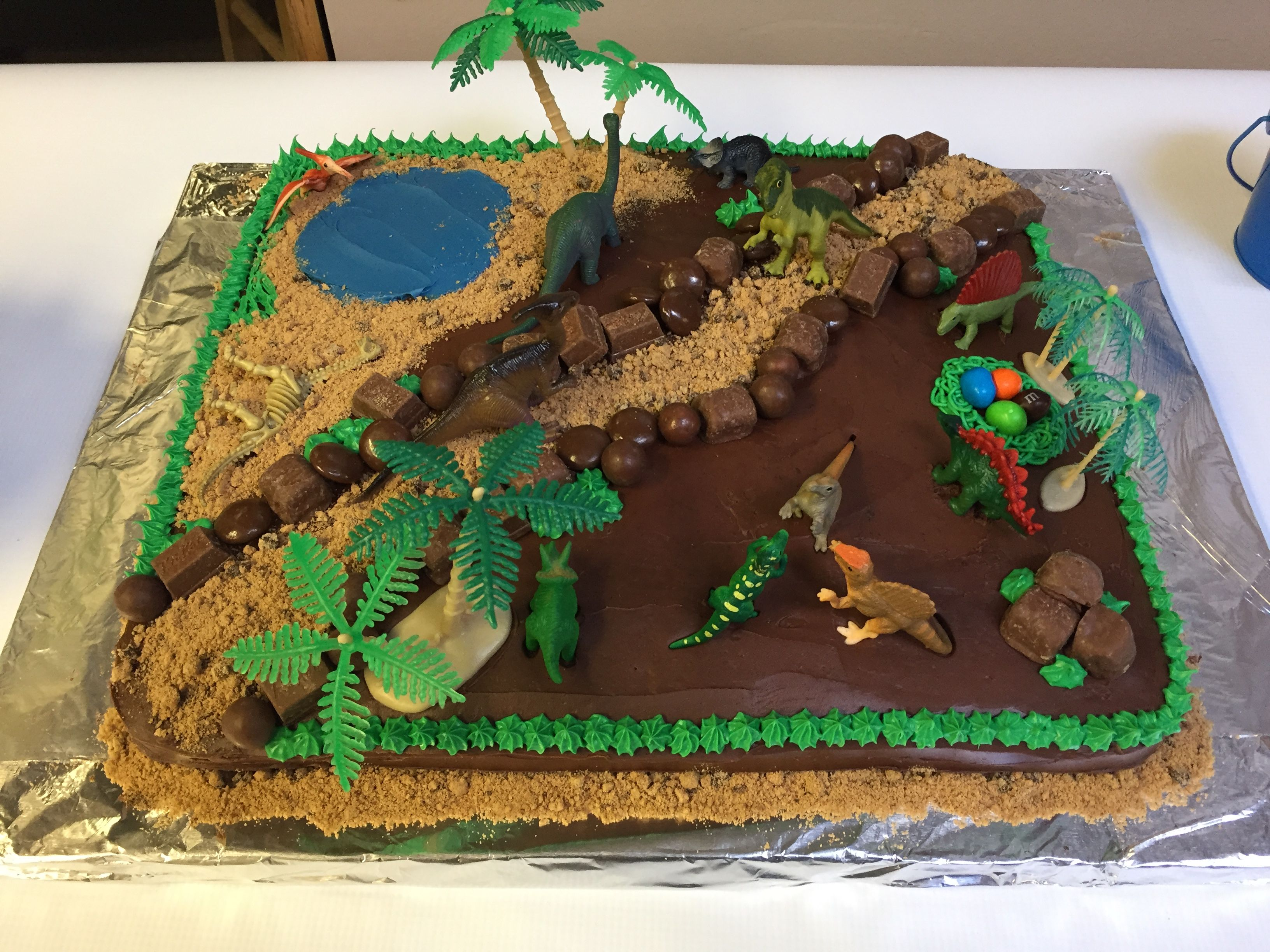 Chocolate Homemade Dinosaur Cake Kids Birthday Stuff In