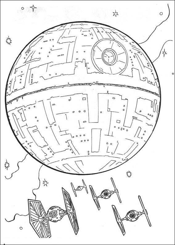 The Headquarters Of The Star Wars Coloring Pages Desenhos De
