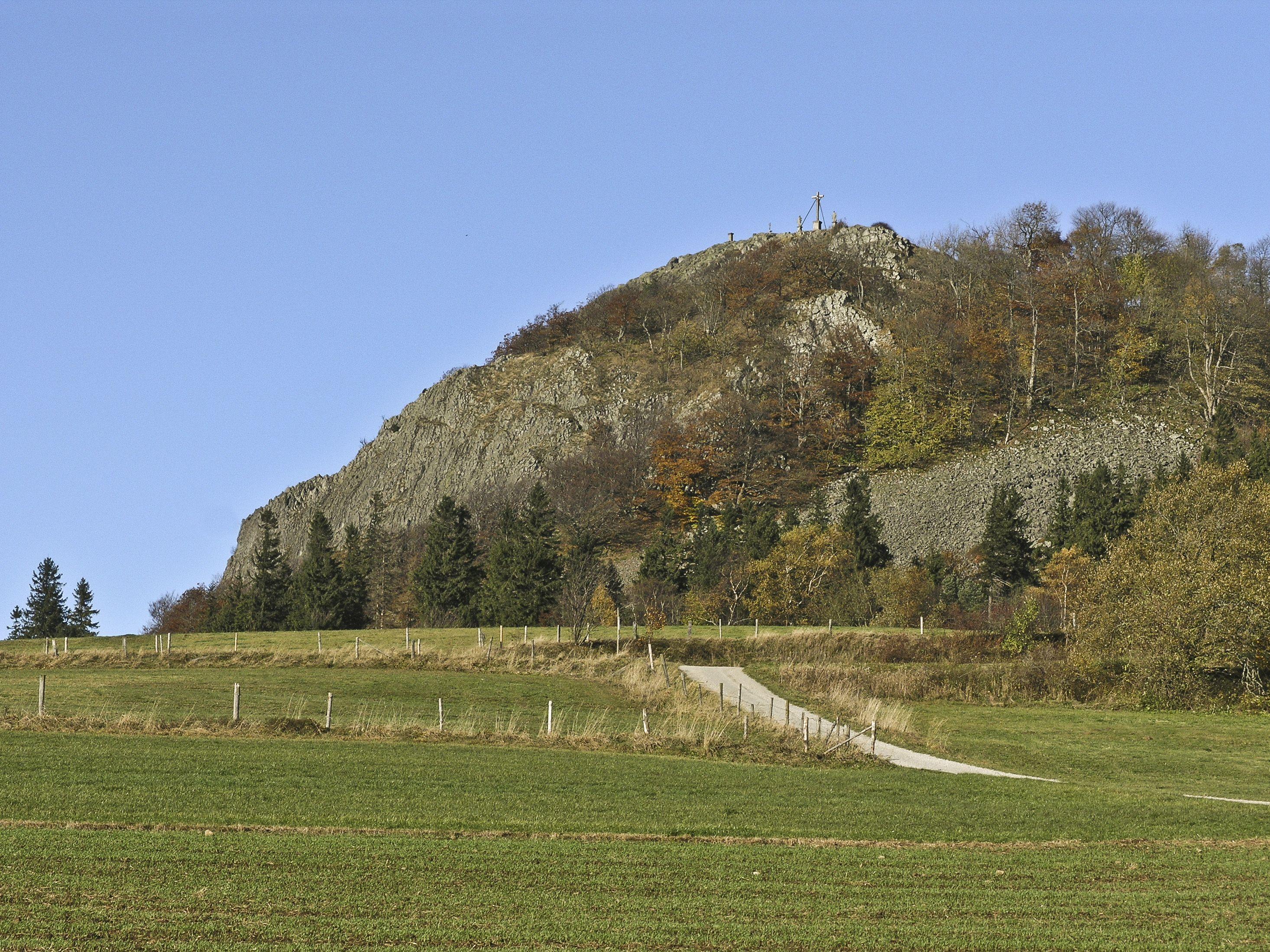 Extratour Milseburg Blick Auf Die Milseburg Natur Landschaft Wandern