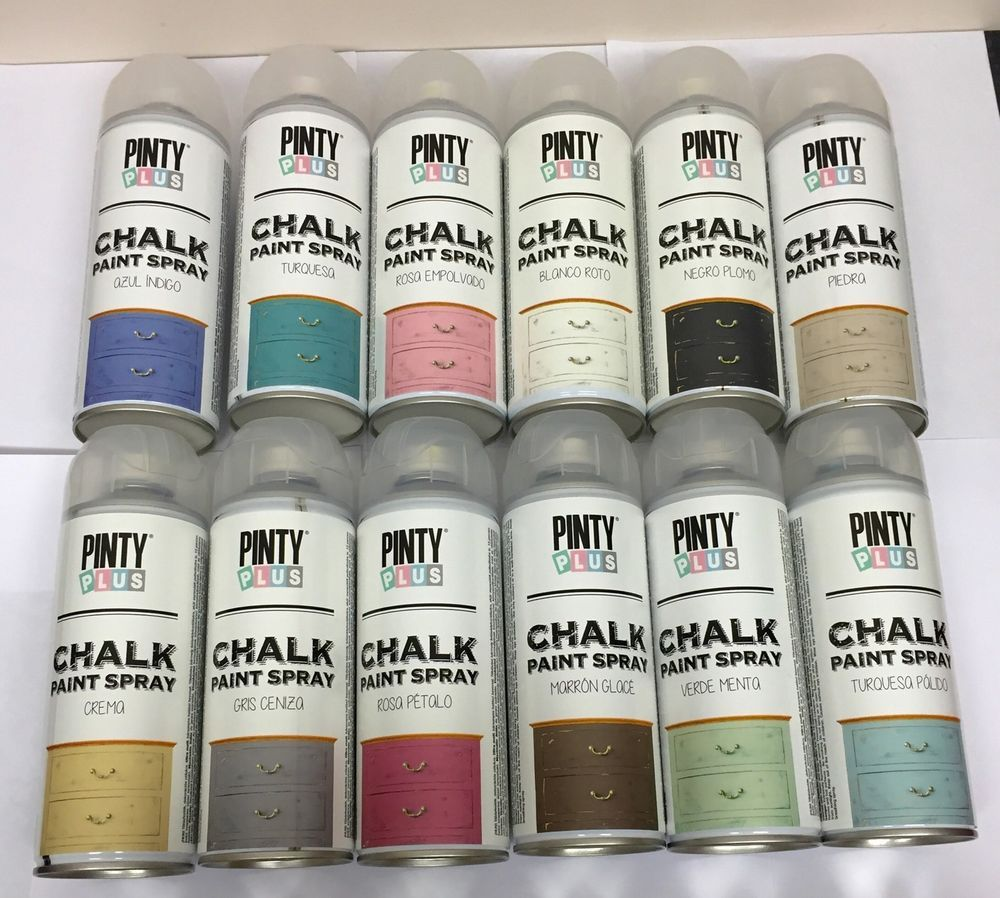 pinty plus chalk spray paint shabby chic furniture 400ml. Black Bedroom Furniture Sets. Home Design Ideas