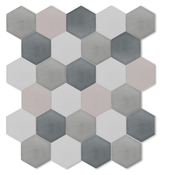 Cement Hexagon Floor Tile Google Search Heksagony Płytki