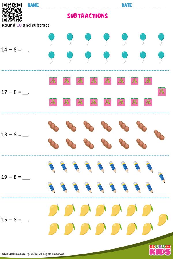 Subtractions Kindergarten Subtraction Worksheets Math Subtraction Worksheets Subtraction