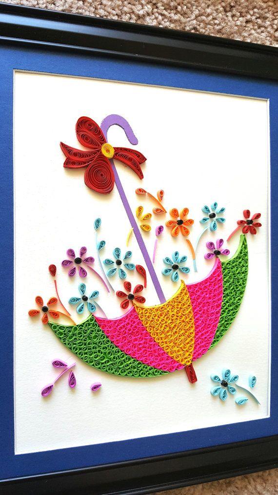 Arte de ducha bebé paraguas | Impresión de paraguas | Pintura de paraguas | bebé niña de Navidad | Decoración infantil de niña | señales de bebé habitación pared decoración Este paraguas enclavijada es una hermosa decoración de casa/habitación. Si quieres algo colorido y flores en la