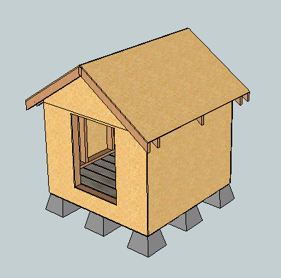 DIY Projects East Fork Free Doghouse (or Playhouse Or Storage Shed) Plans  (Kind Of). Woodworking Plans By Ana White