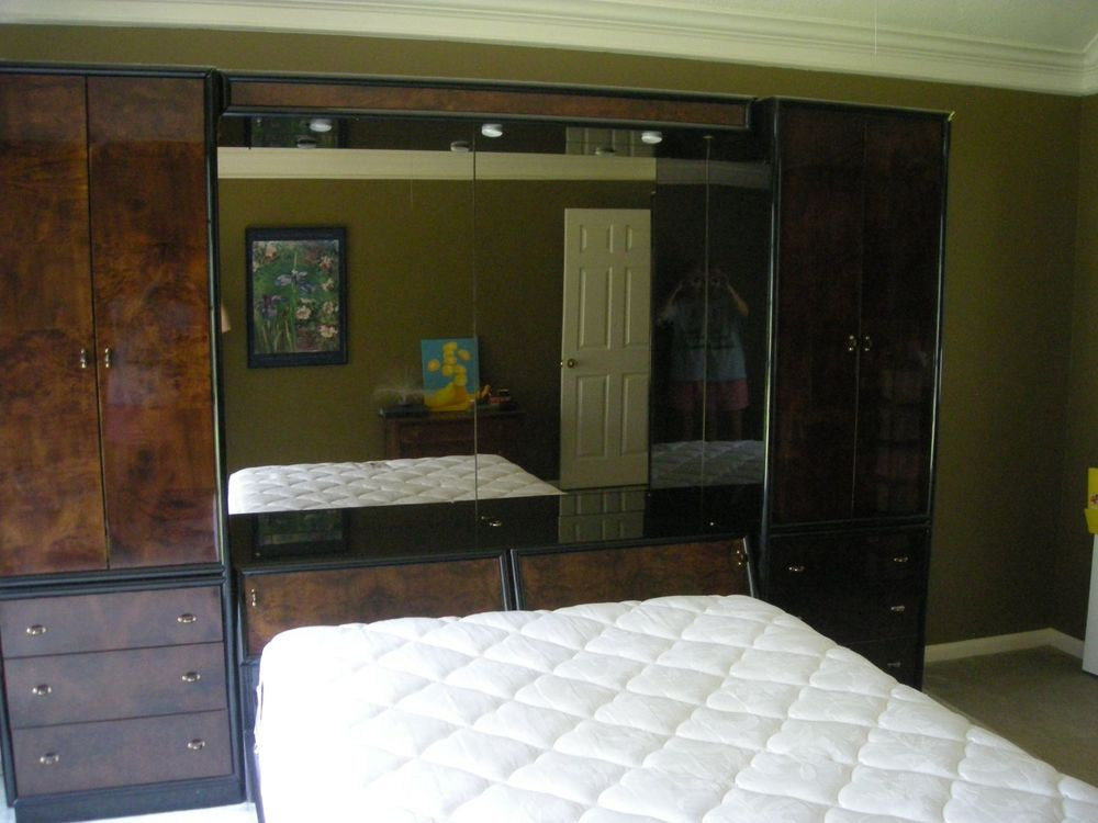 Dard Wood Tone And Modern   Henredon Scene Three   Bedroom Furniture