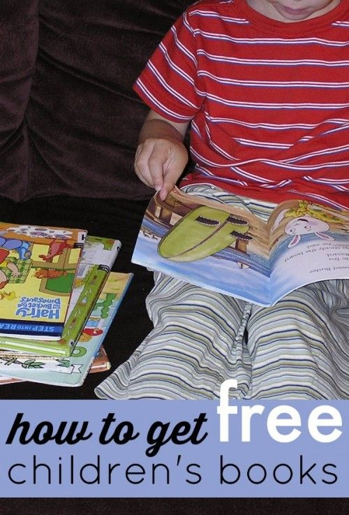 How to Get Free Children's Books | learning activities for