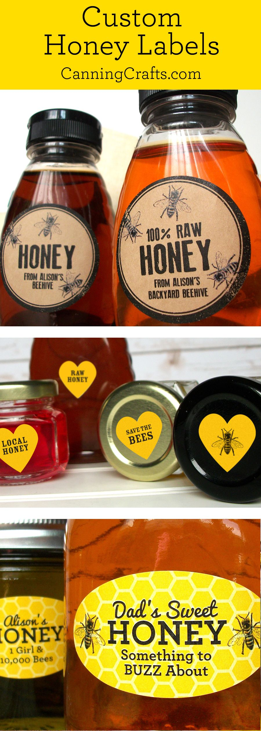 custom honey labels are a great gift for backyard beekeepers