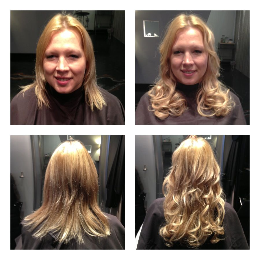 Hotheads Hair Extensions On Kristi Length 14 16 B A