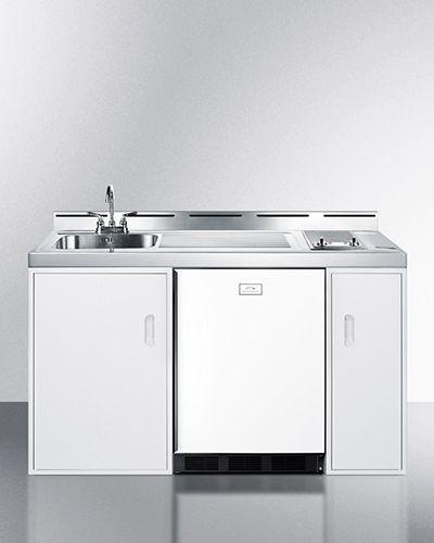 Summit C60elglass 60 All In One Combo Kitchen Refrigerator