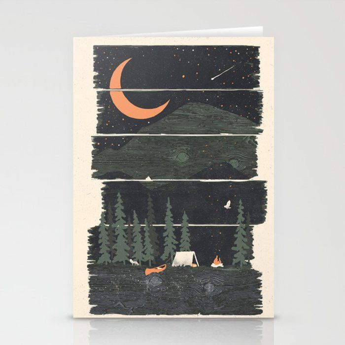 Wish I Was Camping... Greeting Card by Ndtank - Set of 3 Folded Cards (5